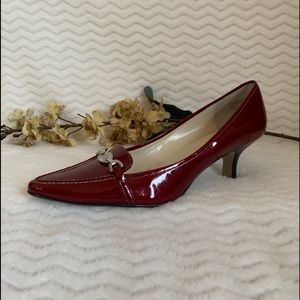 AK Anne Klein burgundy heels pointed toe shoes 11M
